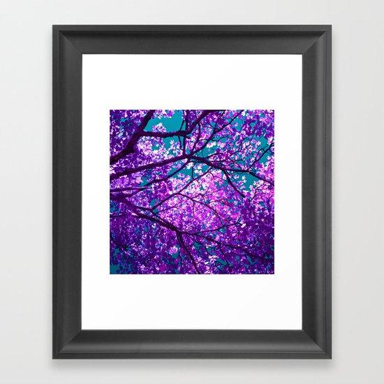 purple tree II Framed Art Print