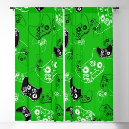 Video Game Green Blackout Curtain