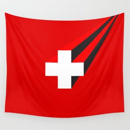 THE SWISS ARE COMING Wall Tapestry