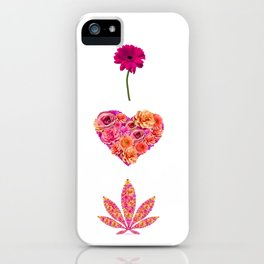 i Heart Pot Leaf iPhone Case