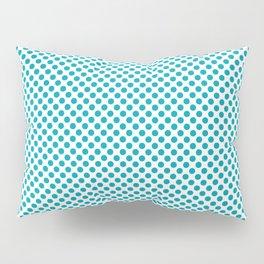 Peacock Blue Polka Dots Pillow Sham