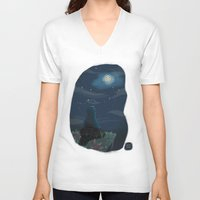 cookie monster V-neck T-shirts featuring Cookie monster by David Pavon