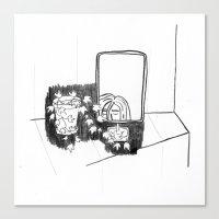 bathroom Canvas Prints featuring bathroom by Frida A Wallgren