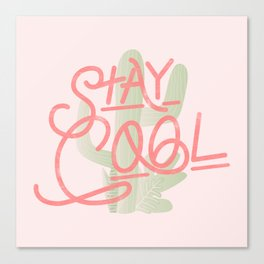 Stay Cool Cactus Canvas Print