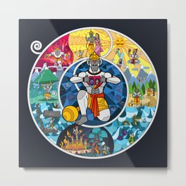 Life of Hanuman Metal Print