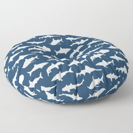 Sharks on Regal Blue Floor Pillow