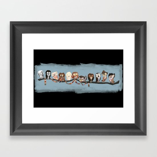 Doctor Hoo - Painted Version Framed Art Print