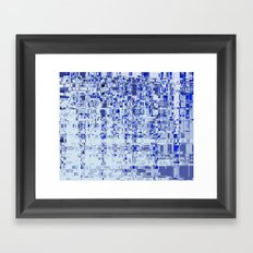 Abstract Architecture Blue Framed Art Print