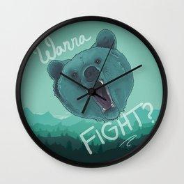 Bear Fight Wall Clock