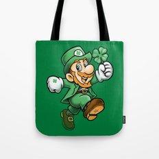 Lucky Mario Leprechaun Tote Bag