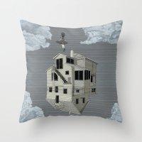 flight Throw Pillows featuring FLIGHT by NOA ALON ART