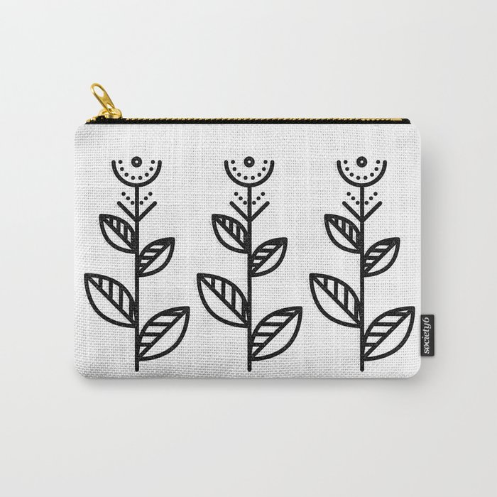MINIMAL FLOWER Carry-All Pouch