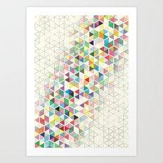 Cuben Split Art Print