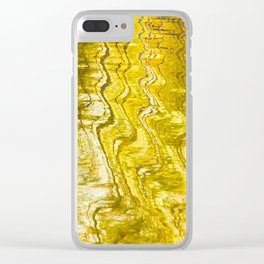 Golden Reflection on Surface Of Lake #decor #society6 #buyart Clear iPhone Case