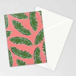 Nouveau Banana Leaf in Lox Stationery Cards