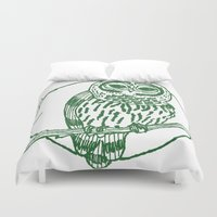 coasters Duvet Covers featuring Forest Lover's Owl by KimberlyVautrin