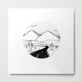 On the way to the desert Metal Print