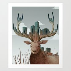 Unwelcome Visitor Art Print
