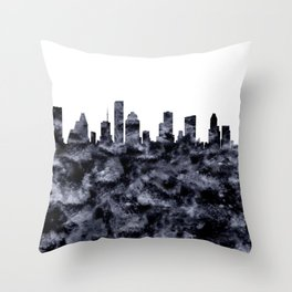 Houston Texas Skyline Throw Pillow