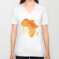 africa V-neck T-shirts featuring Africa by Stephanie Wittenburg