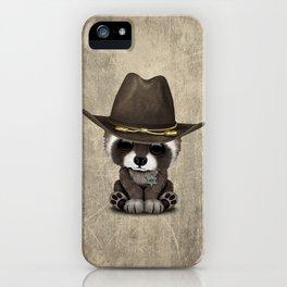 Cute Baby Raccoon Sheriff iPhone Case