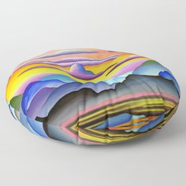 Colorful Coast Sunset Floor Pillow