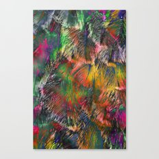 Colored Feathers Canvas Print