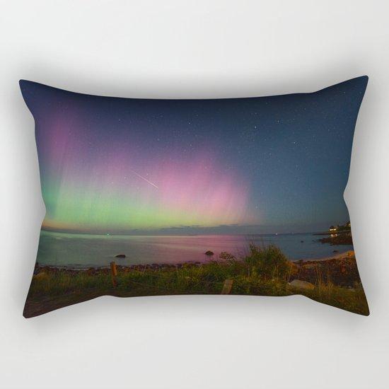 Pink Aurora at Old Garden Beach Rectangular Pillow