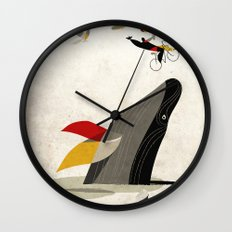 For a breath, the butterflies Wall Clock