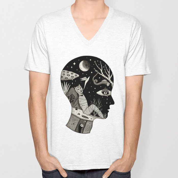 Distorted Recollection of a Dream About Death Unisex V-Neck
