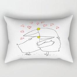 Bird Hug Rectangular Pillow
