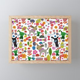 Doggy Park Framed Mini Art Print