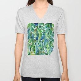 Split Leaf Philodendron – Green Unisex V-Neck