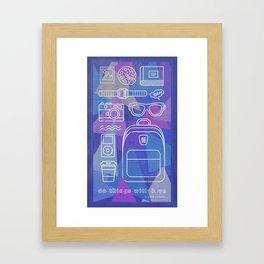 Things to love Framed Art Print