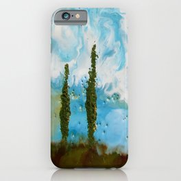 Tuscan Sunset original Encaustic wax painting by Seasons Kaz Sparks iPhone Case