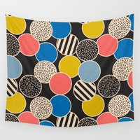 eames Wall Tapestries featuring Memphis Inspired Pattern 6 by Season of Victory