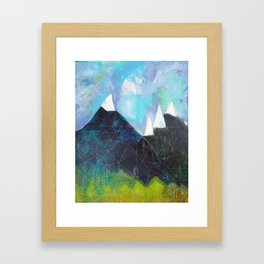 Matterhorn Cirque Mountain Peaks Framed Art Print