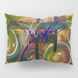 Abstract bubbles hidden secret message uplifting  Pillow Sham