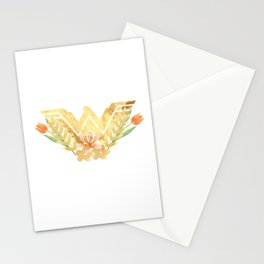 wonder.woman floral Stationery Cards
