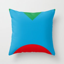 Blue dog, strange red nose, green Background. OR Blue Face, Green hair, big Red Mouth. You Choose. Throw Pillow