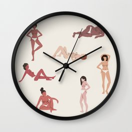 HEY LADIES Wall Clock