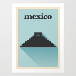 Minimal Mexico Poster Art Print
