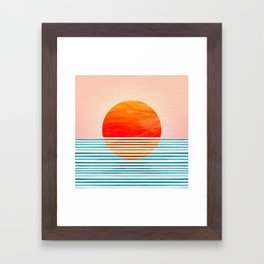 Minimalist Sunset III Framed Art Print