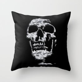 Metal Skull Throw Pillow