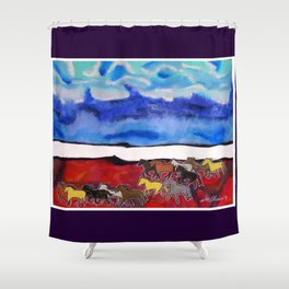 Sky Ponies #34 Shower Curtain