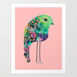 thr boho rainbow bird Art Print