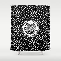 baphomet Shower Curtains featuring BAPHOMET by DIVIDUS