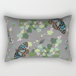 2941-Australian-Native-Violet-and-Blue-Butterfly Grey Rectangular Pillow