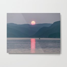 Sunset over the Fjord du Saguenay Metal Print