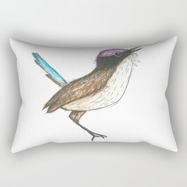 PURPLE CROWNED FAIRY WREN Rectangular Pillow